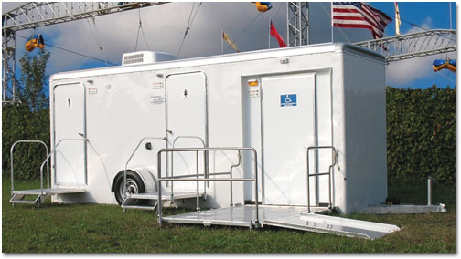 ADA Handicapped Restroom Trailer Rental in New Jersey